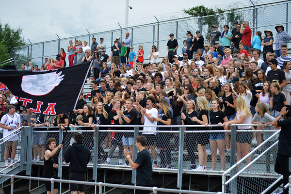 Alta had a large student contingency that stood and cheered throughout the game. (Justin Adams | City Journals)