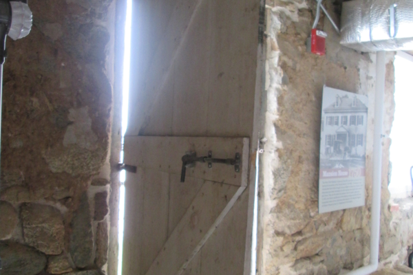 One of the original doors in the mill opens to a view of the Susquehanna.