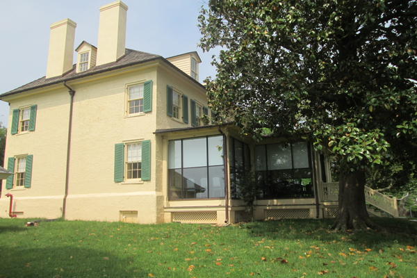The mansion today, with the back porch enclosed.