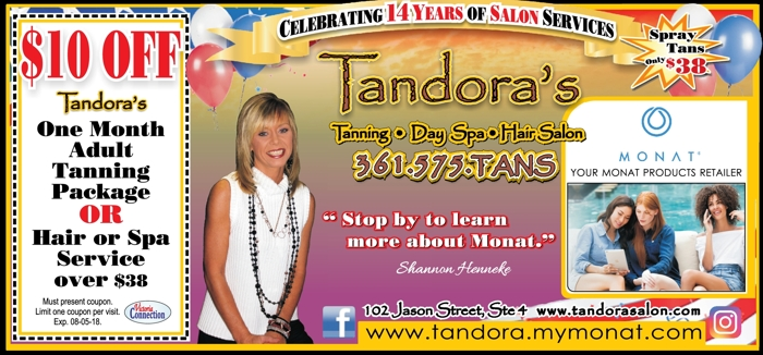 Tandora s 20tanning day 20spa hair 20salon 20  20vc 20  20june july 202018