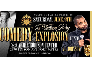 Comedy Explosion Featuring AJ Johnson - start Jun 09 2018 0730PM