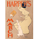 Edward Penfield, Harper's March,1895, color lithograph, 18 ¾ x 13 3/8 inches. Collection of the Palmer Museum of Art, Gift of Jack R. Bershad, 95.109.