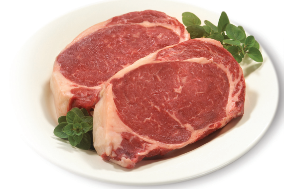 Photo raw ribeyes