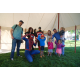 Braydee, Jeff, Ryder and Colbee Worthington with their cousins Jaron, Summer and Hannah Woolley hang with superheroes. (Keyra Kristoffersen/City Journals)