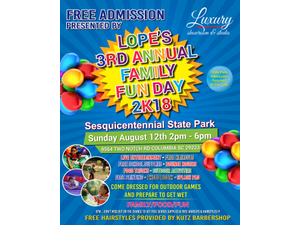 Lopes 3rd Annual Family Fun Day 2k18 - start Aug 12 2018 0200PM