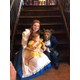 Belle and the Beast with a young fan at a recent promotional apperance at the Sawmill Grill in Oxford