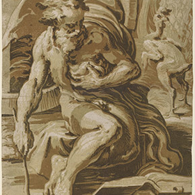 The chiaroscuro woodcut in renaissance italy ugo da carpi after parmigianino diogenes