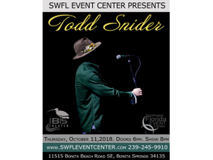 Todd Snider - start Oct 11 2018 0700PM