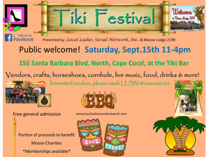Tiki Festival - start Sep 15 2018 1100AM