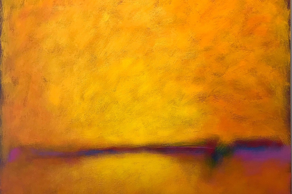 David Eldreth's abstract paintings glow with summer warmth.