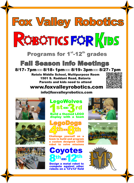 Fox 20valley 20robotics 20 season 20info 20meetings 20kids 201st 12th 20grades