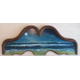 The Sea a painting on a headboard by Nancy Swope