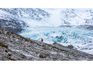 Tour guide Skarpi Thrainsson hikes up Svnafellsjkull glacier which serves as north of the wall in the TV series Game of Thrones