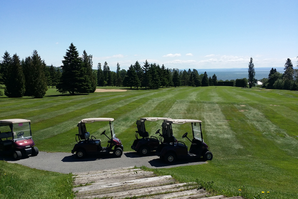 The view from the Club de Golf de Murray Bay.