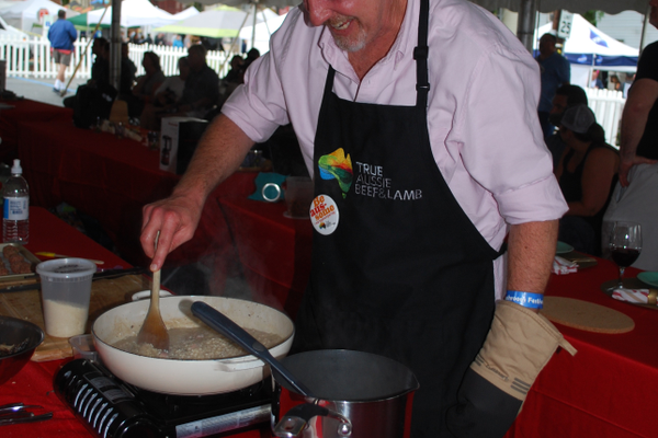Cooking demonstrations were a big attraction on Saturday.