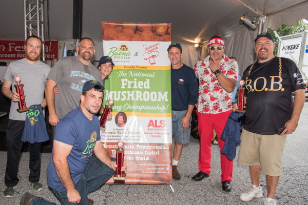The champions of the Fried Mushroom Eating Contest were crowned on Saturday.