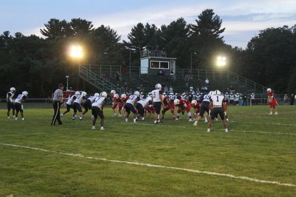 The Tewksbury High football team opened the season with a 34-6 win over Lawrence. (Photo by Kayleigh Ann Nagle)