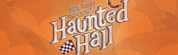Haunted hall webpage graphic