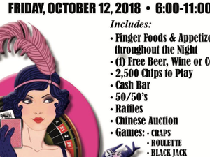Roaring Twenties Casino Night Fundraiser - start Oct 12 2018 0600PM