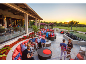 Bonita Bay Club members enjoys its conversation pit on a perfect Florida evening