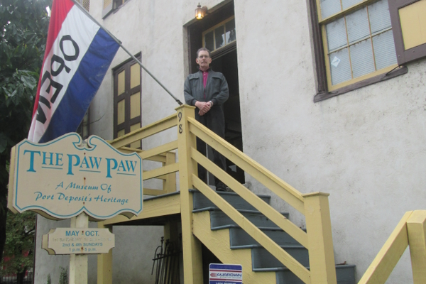 George Maldeis at the Paw Paw Museum, dedicated to the history of Port Deposit.
