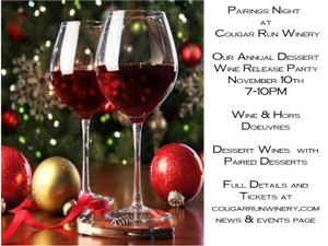 Pairings Night at the Winery - start Nov 10 2018 0700PM