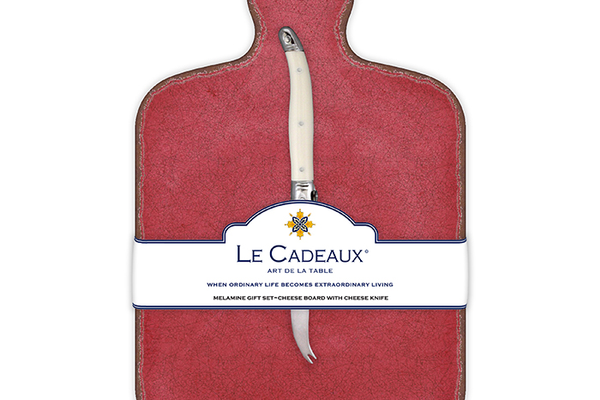 Le Cadeaux Cheese Board with Laguiole Cheese Knife, $31