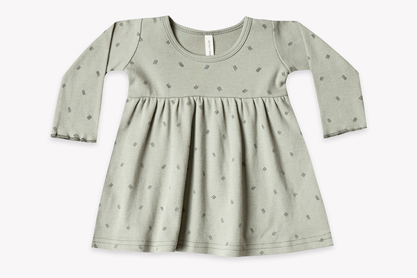 Quincy Mae Organic Brushed Jersey Baby Dress, $25