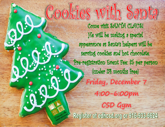 El Dorado Hills Event Cookies With Santa