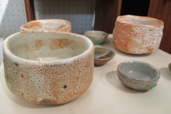 Bowls and cups by Gill Mallinckrodt.