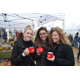 Sarah Campbell Jessica Butzgy and Kristen Maida take a break from shopping to enjoy warm beverages