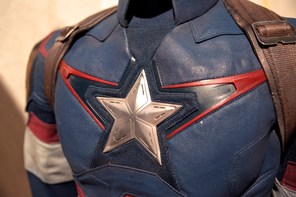 Captain America's costume, worn by Chris Evans in 'Avengers: Age of Ultron' (2012).
