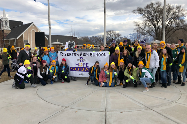 The annual Hope Walk was supported by Hope Squad members from neighboring schools such as South Hills and Oquirrh Middle. (Linda Tranter/RHS)