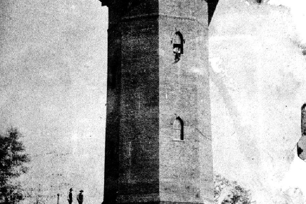 The tower with its metal water tank, 1887