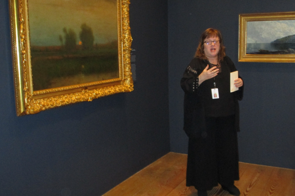 Audrey Lewis of the Brandywine River Museum of Art leads a tour of the new exhibition on March 8.