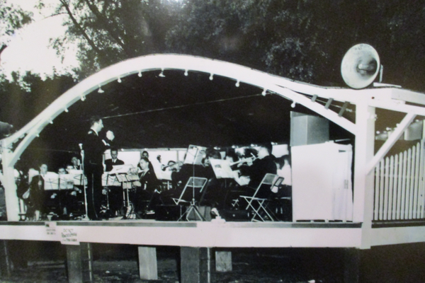 The bandstand at Lenape hosted concerts and the Old Fiddlers Picnic for many years.