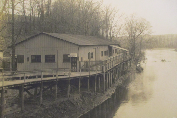 A photo of the dance hall located across the Brandywine from Lenape Park.