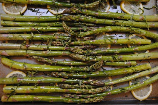 Wild Rice Asparagus, Lemon, Cranberries and Tarragon by  My Jerusalem Kitchen