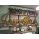 The neon sign for Minsters from the Newark Shopping Center