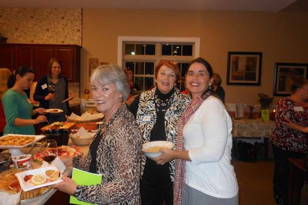 Social events with current members Carol Craig, Jan Bruno, and Beth Schmidt