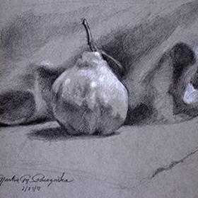 Pear pieczonka drawing 300x234 300x234