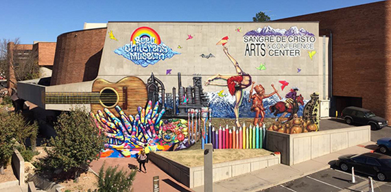 Matthew taylor new mural at sangre de cristo sm
