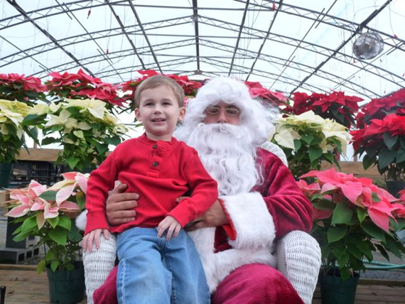 Santa in the greenhouse