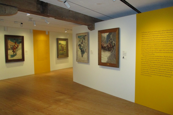 The gallery walls have been reconfigured to show the breadth of N.C. Wyeth's work in 'New Perspectives.'