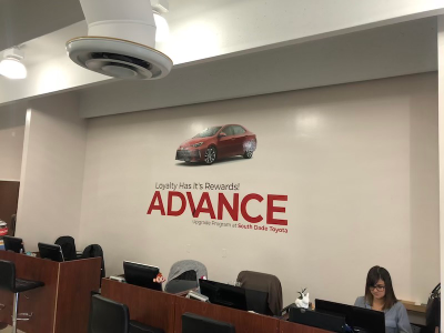 Toyota homestead custom wall graphic