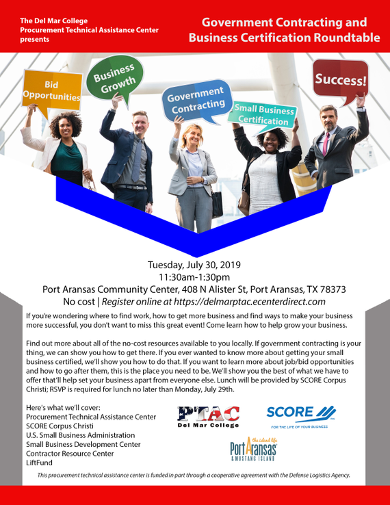 7.30.19 20government 20contracting 20and 20business 20certification 20roundtable 20flyer