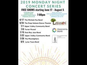 Monday Night Concert Series - start Aug 05 2019 0700PM