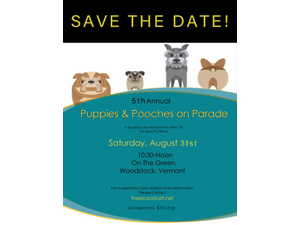 5th Annual Puppies  Pooches on Parade - start Aug 31 2019 1030AM