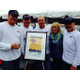 Rob Schurr, Tom George, Kevin hickey, Donna Duran, and Randy Belote at Oktoberfest, benefiting Fish for a Cure.