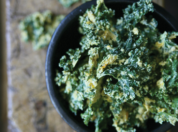 Raw Cheesy Kale Chips Recipe